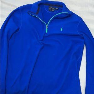 Men's Polo Performance Fleece pullover